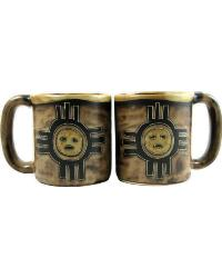 Zia Sun Round Stoneware Mug by
