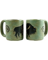 Pueblo Buffalo Round Stoneware Mug by