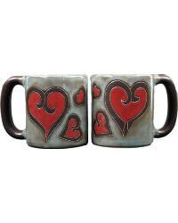 Hearts Round Stoneware Mug by