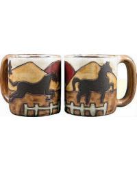 Equestrian Round Stoneware Mug by