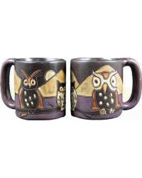 Night Owls Round Stoneware Mug by