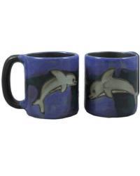Dolphin Round Stoneware Mug  by