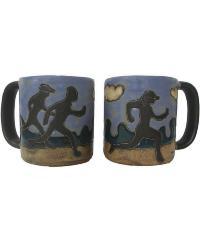 Jogger Runner Round Stoneware Mug  by