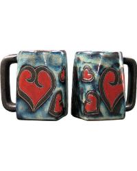 Hearts Square Stoneware Mug by