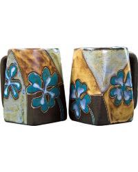 Four Leaf Clover Square Stoneware Mug by