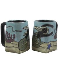 Mermaid Square Stoneware Mug  by
