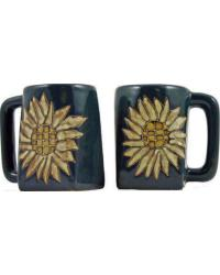 Sunflower Square Stoneware Mug by
