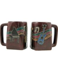 Musical Instruments Square Stoneware Mug by