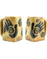 Healing Hands Square Stoneware Mug by