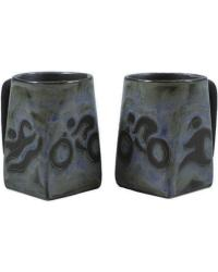 Triathlon Square Stoneware Mug  by