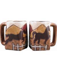 Equestrian Square Stoneware Mug by