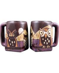 Night Owls Square Stoneware Mug by