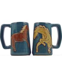 Horses Stoneware Stein by