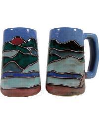 Mountain Scene Stoneware Stein by