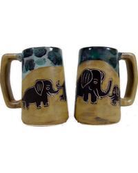 Elephants Stoneware Stein by