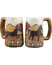 Equestrian Stoneware Stein by