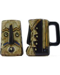 Mask Earthtones Sculpted Stein by