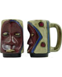 Face Dark Sculpted Stein by