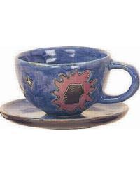 Celestial Blue Latte Mug by