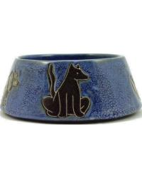 MEDIUM Dog Dish Blue by