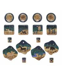 16 Pc Dinnerware - Animals by