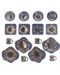 16 Pc Dinnerware - Celestial Blues by