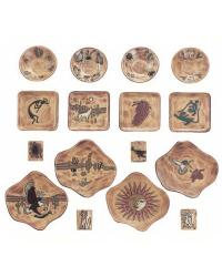 16 Pc Dinnerware - Desert Earthtones by