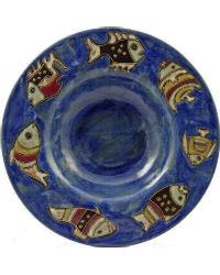 12in Pasta Plate - Fish Blue by