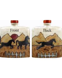 24 oz. Square Decanter - Equestrian/Horses by