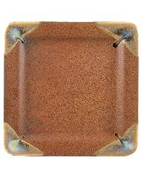 Rustic Brown Square Dinner Plate by