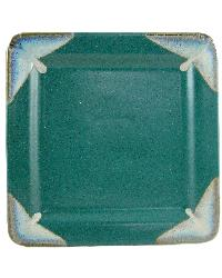 Matte Green Square Dinner Plate by