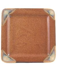 Rustic Brown Square Salad Plate by