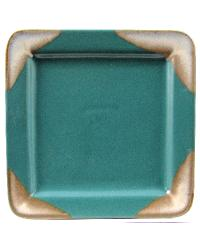 Matte Green Square Salad Plate by