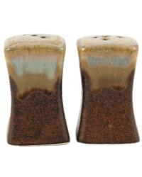 Rustic Brown Salt and Pepper by