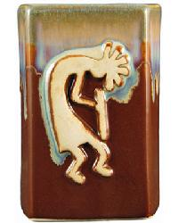 Chocolate Square Kokopelli Mug by