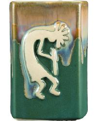Matte Green Square Kokopelli Mug by