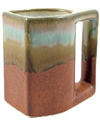 Rustic Brown Square Mug - Set of 4 by