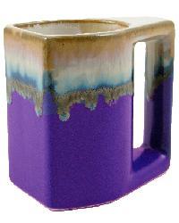 Purple Square Mug Set of 4 by