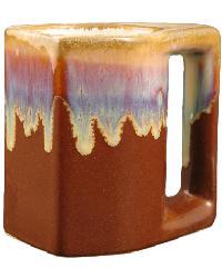 Chocolate Square Mug Set of 4 by