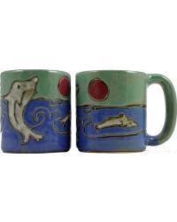 Dolphins Round Stoneware Mug by