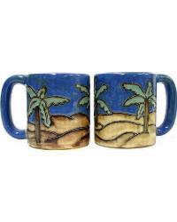 Desert Palms Round Stoneware Mug by