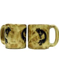 Kokopelli Traditional Round Stoneware Mug by