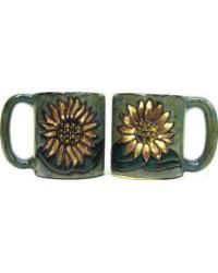 Sunflower Round Stoneware Mug by