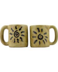 Sunburst Round Stoneware Mug by