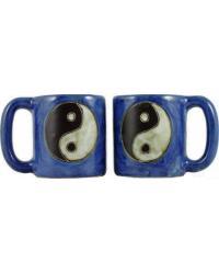 Yin Yang Round Stoneware Mug by