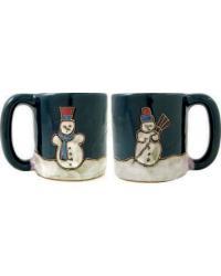 Snowmen Round Stoneware Mug by
