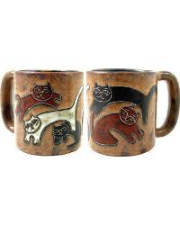 Kitties Round Stoneware Mug by