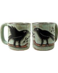 Ravens Round Stoneware Mug by