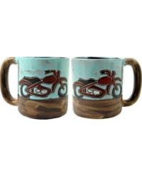 Motorcycle Round Stoneware Mug by