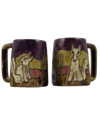 Coyote Square Stoneware Mug by